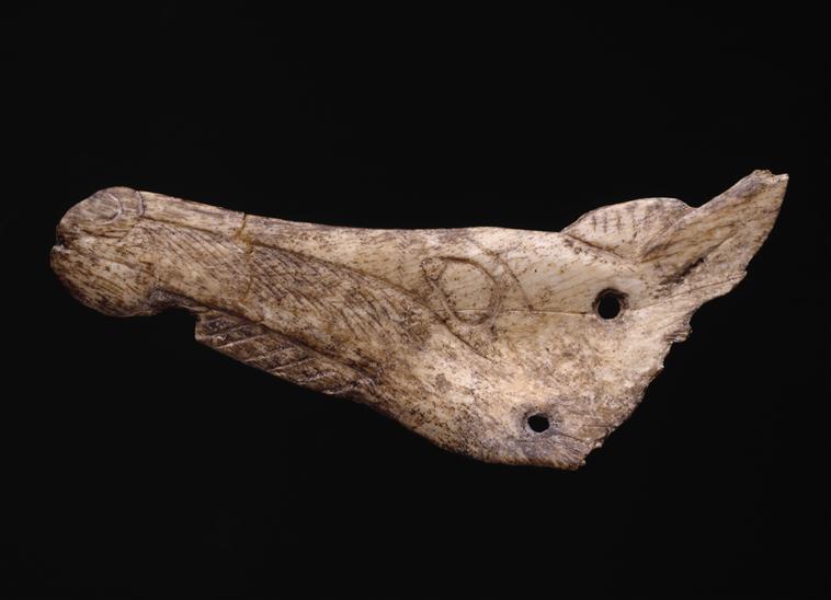 Contour découpé : tête de cheval - Isturitz - Paléolithique supérieur - MAN84781