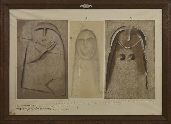 """Figures de divinités féminines - Coizard """"Le Rayet"""" - Dessins baron J. de Baye"""