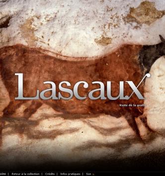 Accueil du site Internet consacré à la grotte Lascaux