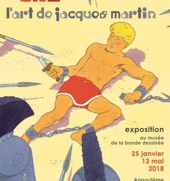 Affiche de l'exposition Alix, l'art de Jacques Martin - 2018