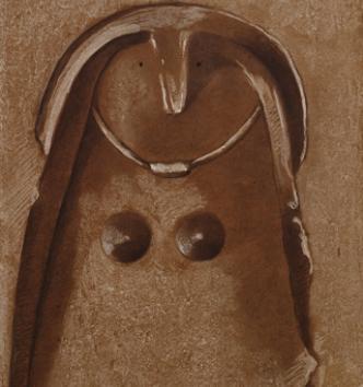 Figurations anthropomorphes des hypogées de la Marne - Dessins autographes du baron J. de Baye