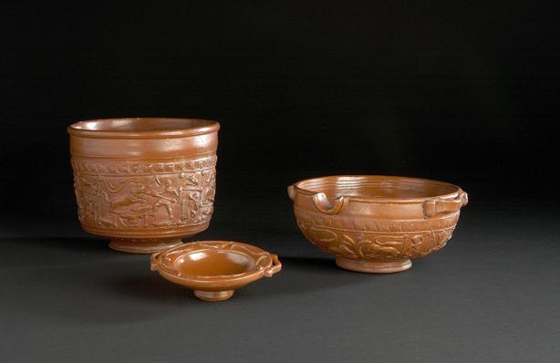 Reconstitution fictive d'une table gallo-romaine