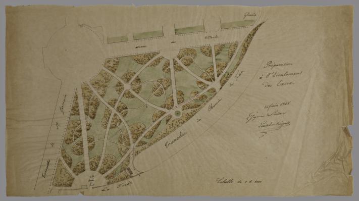 Plan Du Jardin Anglais Musee Archeologie Nationale